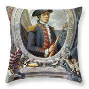 John Paul Jones (1747-1792) Throw Pillow