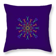 Kaleidoscope Drawing Throw Pillow