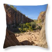 Katherine Gorge Landscapes Throw Pillow