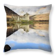 Kilchurn Castle Throw Pillow