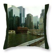 Lake Street Bridge Throw Pillow
