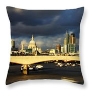 London  Skyline Waterloo  Bridge Throw Pillow