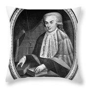 Luigi Galvani (1737-1798) Throw Pillow