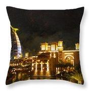 Madinat Jumeirah Throw Pillow