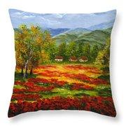 Mediterranean Landscape Throw Pillow