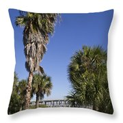 Melbourne Causeway To Indialantic In Central Florida From Geiger Throw Pillow