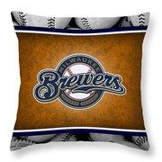Milwaukee Brewers Throw Pillow