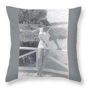Miss Florida 1960 Throw Pillow