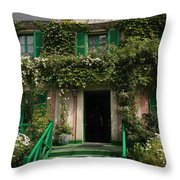 Monets Garden - Giverney - France Throw Pillow