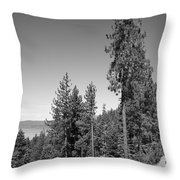 Mountainside Near Lake Tahoe Throw Pillow
