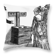 Newgate Prison, 1873 Throw Pillow