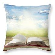 Open Book Throw Pillow