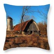 Paeonian Springs Barn Throw Pillow