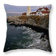 Portland Head Lighthouse Throw Pillow