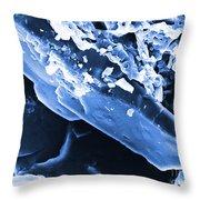 Progestin Crystals Hormonal Throw Pillow