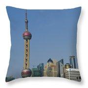 Pudong Skyline Throw Pillow