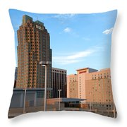Raleigh Skyline Throw Pillow