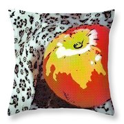 Red And Yellow Apple Throw Pillow