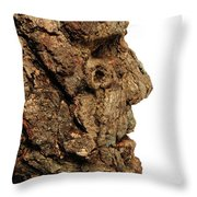 Revered   A Natural Portrait Bust Sculpture By Adam Long Throw Pillow
