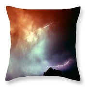 Rounds 2 3 Late Night Nebraska Storms Throw Pillow