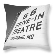 Route 66 Drive-in Theatre Throw Pillow