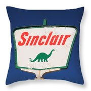 Route 66 - Sinclair Station Throw Pillow