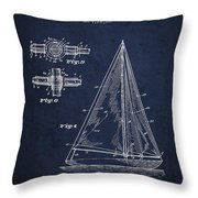 Sailboat Patent Drawing From 1938 Throw Pillow