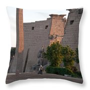 Scenes From Luxor Throw Pillow