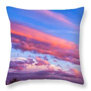 Severe Storms In South Central Nebraska Throw Pillow