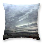 Severe Warned Nebraska Storm Cells Throw Pillow