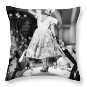 Silent Film Still: Drinking Throw Pillow