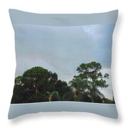 Skyscape - Tornado Forming Throw Pillow