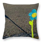 Smile Flower Throw Pillow