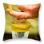 Snake Venom Extraction Throw Pillow