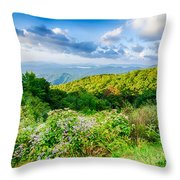 Sunrise Over Blue Ridge Mountains Scenic Overlook  Throw Pillow