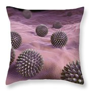 Swine Influenza Virus H1n1 Throw Pillow