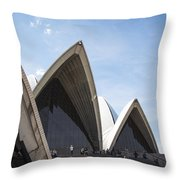 Sydney Opera House Detail In Australia  Throw Pillow