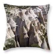 Tent Rocks Throw Pillow