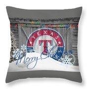 Texas Rangers Throw Pillow