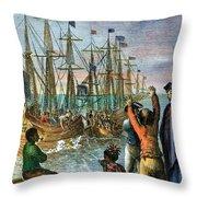 The Boston Tea Party, 1773 Throw Pillow by Granger