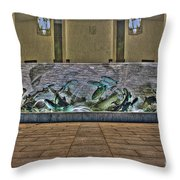 The Fountain At Founders Hall Throw Pillow