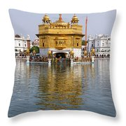 The Golden Temple At Amritsar India Throw Pillow