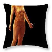 The Skeletal System Female Throw Pillow