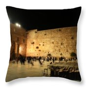 The Wailing Wall Throw Pillow