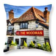 The Woodman Pub Throw Pillow