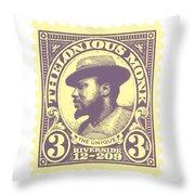Thelonious Monk -  The Unique Thelonious Monk Throw Pillow