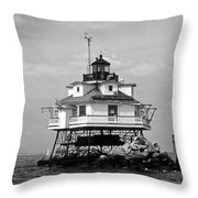 Thomas Point Shoal Lighthouse Throw Pillow