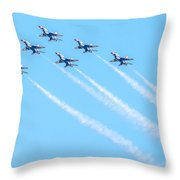 Thunderbirds In Formation  Throw Pillow