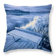 Variations Of A Dock Throw Pillow