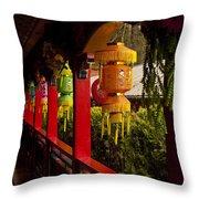 Vietnamese Temple Throw Pillow